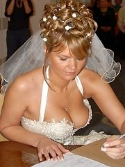 Check out these sexy newbrides. They love the cock i bet they had alot of fun after the reception.�