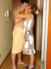 sexy moms involved in a hot hardcore action with eager young boys